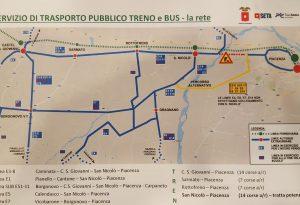 Ponte Trebbia chiuso da mercoledì, treno gratis San Nicolò-Piacenza.