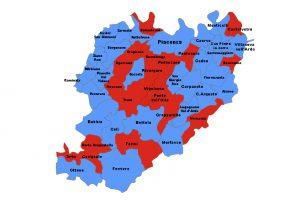 """En plein del centrodestra, cambia la geografia politica piacentina: 29 comuni """"azzurri"""" su 48"""