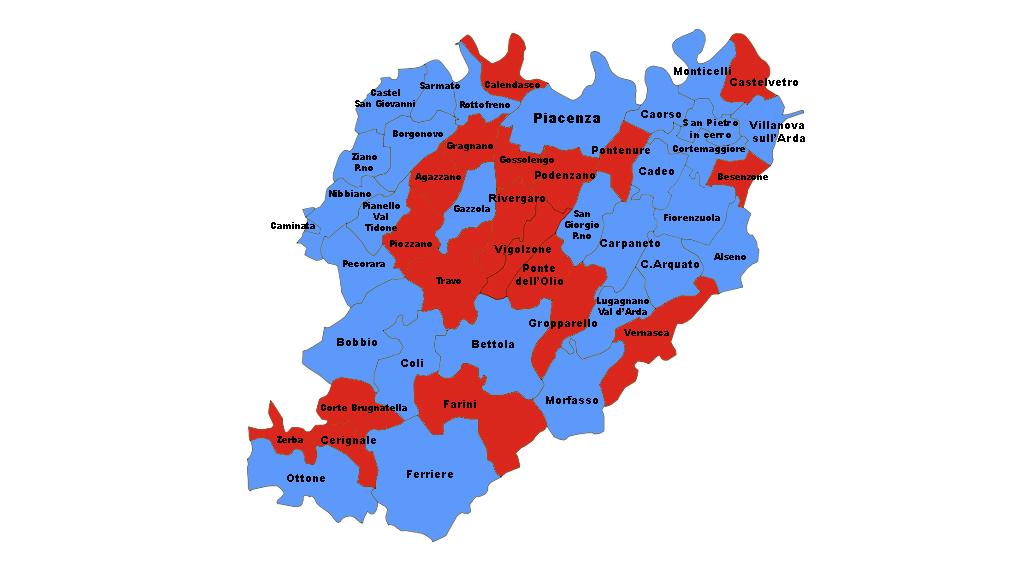 Cartina Politica Mondo 2017.En Plein Del Centrodestra Cambia La Geografia Politica Piacentina 29 Comuni Azzurri Su 48 Liberta Piacenza