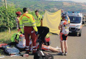 La gita in bici nel Piacentino si trasforma in tragedia: malore fatale per un 61enne di Melzo