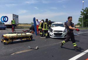 Camion contro due auto a San Giorgio, tre feriti. Tra loro c'è anche un 13enne