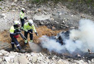 Siccità e rischio incendi, maxi esercitazione a Pecorara