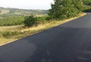 Ziano, nuovo look per la strada colabrodo tra Vicomarino e Montalbo
