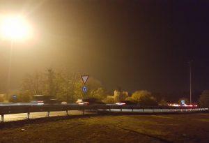 La rotonda della Galleana torna ad essere parzialmente illuminata