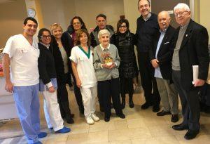 Il sindaco Patrizia Barbieri e l'assessore Federica Sgorbati in visita al Pio Ritiro Cerati