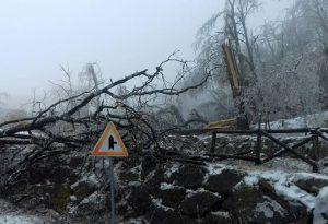 Emergenza maltempo: scuole chiuse, strade bloccate e case ancora senza luce, acqua e telefoni. Dodicimila persone ancora al buio