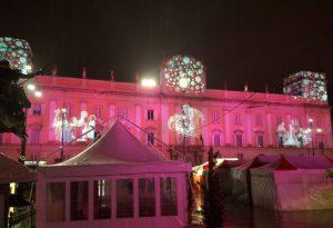 Palazzo del Governatore illuminato a festa: gioco di luci fino a gennaio 2018