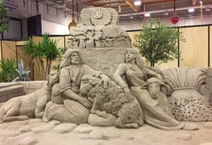Presepi di sabbia, ultimo weekend a Piacenza Expo. Oltre 9mila i visitatori