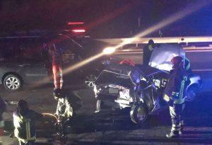 Pauroso incidente in tangenziale alla Galleana: tre mezzi coinvolti, due feriti. Circolazione in tilt