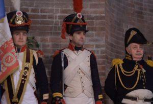 Figuranti in uniforme per il ciclo di eventi dedicati a Napoleone