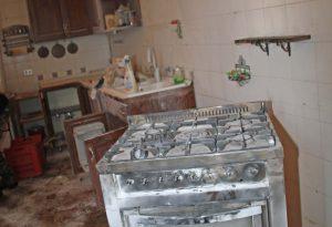 Fuga di gas ed esplosione in cucina: paura per una famiglia