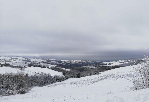 Le foto più belle delle colline piacentine imbiancate dalla neve