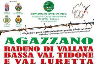 Raduno di vallata ad Agazzano. Sfilata con Fanfara della Val Camonica