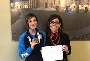 Karate, Giulia Ghirardotti ricevuta dal sindaco Patrizia Barbieri