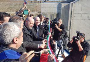 Isola Serafini, inaugurata oggi pomeriggio la nuova conca: progetto da 47 milioni di euro