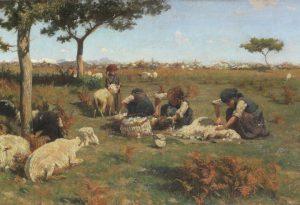 """""""La tosatura delle pecore"""": quadro di Stefano Bruzzi all'asta in Germania"""