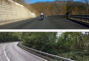 """SS 45, un centauro: """"In Liguria asfalto nuovo, da noi solo crepe e rattoppi"""""""