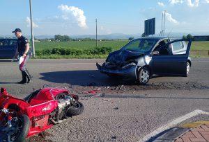 Auto contro scooter a Sarmato: motociclista in gravi condizioni