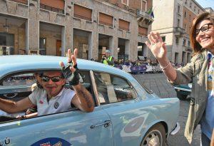 LaMille Miglia passa per Piacenza. Tra i vip Piero Pelù e Filippo Roma