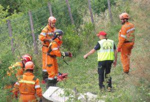 Terremoto e incendi, volontari piacentini alla maxi esercitazione. FOTO