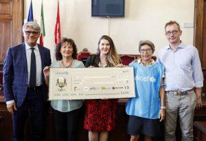 Dal torneo dei giovani campioni cinquemila euro per l'Unicef