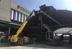 Maltempo: un capannone crollato, tetti scoperchiati, campi allagati: danni per centinaia di migliaia di euro