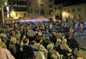 Ferriere, tradizionale cena per l'Amop in piazza delle Miniere