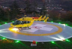 Elisoccorso notturno atterra per la prima volta in Valdarda