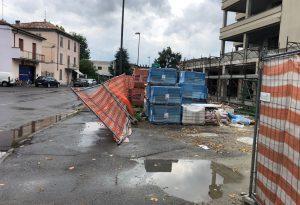 Il violento nubifragio stavolta colpisce Castelsangiovanni: alberi abbattuti, nessun ferito
