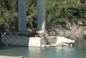"""Ponte San Martino a Bobbio: tronchi accatastati sui piloni. Lega: """"Sindaci segnalateci le criticità"""""""
