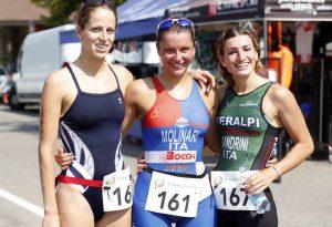 Splendida Tania Molinari: suo il Triathlon Città di Piacenza. LE FOTO