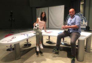 Zona Calcio, prima puntata. Corrado Todeschi e Laura Fregoni alla conduzione, ospite anche Stefano Gatti