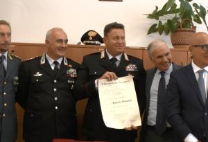 Il maresciallo Roberto Guasco nominato commendatore