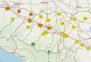 Polveri sottili, nuovi sforamenti. Ieri il valore più alto a Piacenza