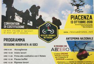 Rescue Drones Network, nasce a Piacenza la rete nazionale per il soccorso