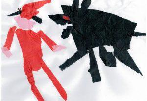 """Il disegno del piccolo Lorenzo Solari diventa il manifesto dello spettacolo """"Cappuccetto Rosso"""""""