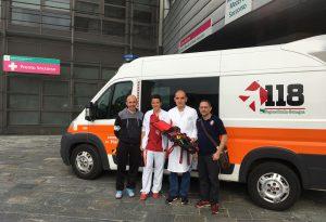 """La squadra del Baraccaluga dona un """"estricatore"""" all'ospedale di Fiorenzuola"""