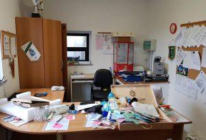 Ladri nella sede del Gragnano calcio: rubati computer nuovo, stampante, borse e bevande