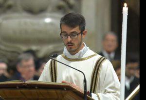 Da Muradolo al Vaticano, il diacono Aldo canta il Vangelo in San Pietro