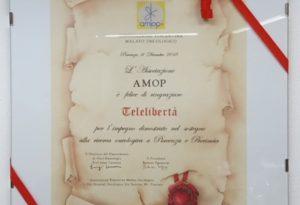 Amop premia i sostenitori della lotta ai tumori. Ci sono anche Libertà e Telelibertà