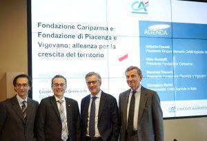 """La Fondazione di Piacenza e Vigevano """"entra"""" in Crédit Agricole Cariparma con 70 milioni di euro"""