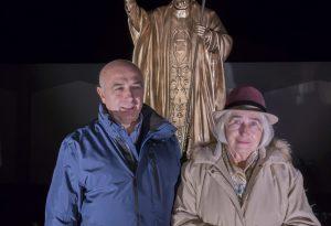 La statua di papa Wojtyla d'ora in poi veglierà sul santuario di Strà