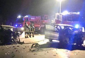 Doppio incidente a La Verza e in strada Magnana: un frontale e un'auto nel fosso, tre feriti