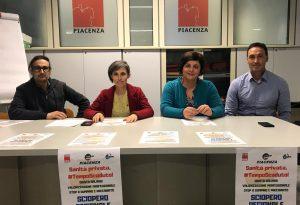Sanità privata: lunedì sciopero e manifestazione anche a Piacenza