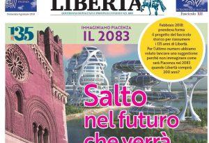 La Piacenza del 2083 sul fascicolo da collezione in edicola con Libertà