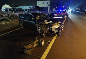 Violento tamponamento alla Barabasca: quattro auto coinvolte, un ferito in condizioni serie