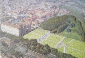 Papamarenghi: Palazzo Farnese con i giardini come la Venaria Reale