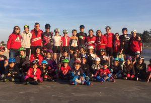 Per i giovani atleti di Piace Skaters allenamento con la campionessa  Erika Zanetti