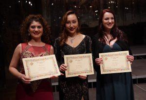 Trio di donne sul podio del Concorso Internazionale Flaviano Labò