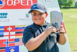 Anche Mattia Pagani a Zona Sport: campione del mondo di golf a otto anni